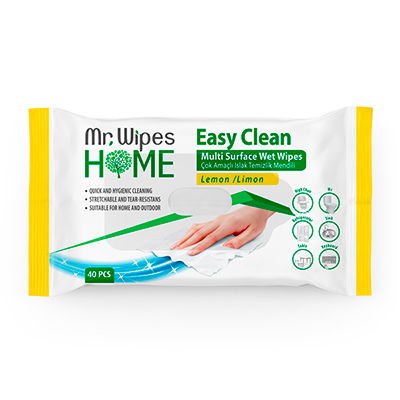 MR. WIPES EASY CLEAN TEMİZLEME MENDİLİ LİMON KOKULU 40 ADET