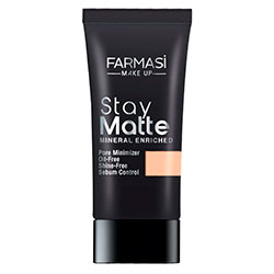 FARMASI MAKE UP STAY MATTE FONDÖTEN 30 ML LIGHT BEIGE-09